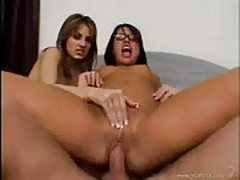 Eva Angelina asked Teagan Presley to join her for a cum swap