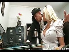Busty Blonde assistant