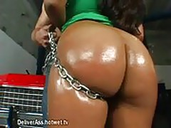 Lovely Latina College Girl Gets Oiled Ass Played With