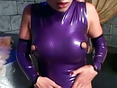 Fucking in latex lingerie