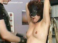 Milf slave with big tits is