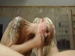 Blonde German Tattoo Chick<br>