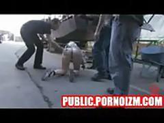 Public Torture of a BDSM Bound Victim