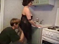 Son Loves To Fuck His Mom In The Kitchen<br>