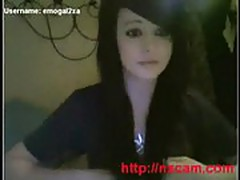 Magnificent Goth Girl On Cam