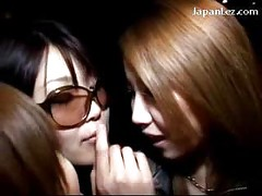 3 Hot Girls Kissing Licking Tongues In The Bar<br>