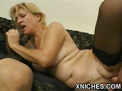 Mature slut  fucking ass two