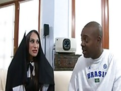 Sexy busty nun shelia marie loves to be fucked by big black