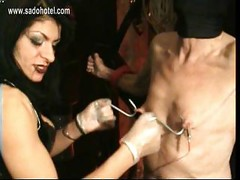 Dirty slave gets large meat