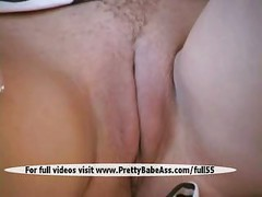 Sexy blonde masturbating her pussy<br>