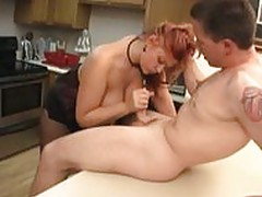 Chubby Eden 38DD Fucked in the Kitchen