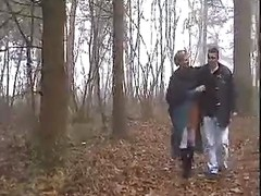 CHUBBY FRENCH GIRL GANGBANGED IN THE MIDLE OF FOREST  -B$R