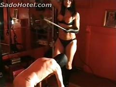 Horny mistress hits and