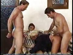 Busty Blonde Milf Gangbang - milf ass<br>