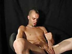 Hot Punk Boy Jerking His Cock Off