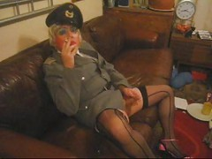 Smoking Military Tranny Bitch