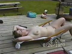 nudist lawnchair wife