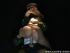 Katja Kassin fucks her prisoner - Big Tits In Uniform