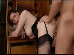European MILF Fucked By Her Son<br>