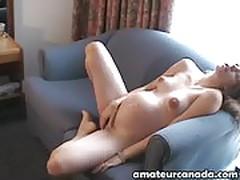 Pregnant preggy brunette hairy pussy masturbating amateur po