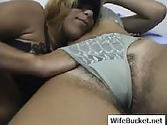 hairy wife fuck and facial