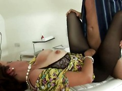 Mature Lady Sonia big tits and pantyhose jerking stud (Part 2 of 2) TheNylonChannel