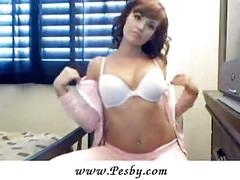 Adorable Amateur Strips Off White Bra And More<br>