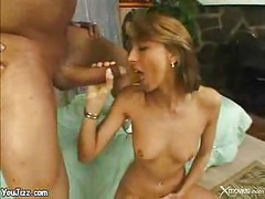 Petite blond babe fucked hard by this big fat cock - milf ass<br>