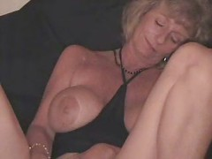 Slut mature wife masturbating with a bottle