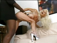 Blonde white woman with black man - Hardcore Interracial