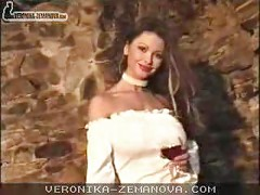 Veronica Zemanova Drinking Wine<br>