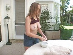 Beautiful Teen With Natural Tits And A Nice Bush Gets Fucked Good!