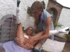 British Mature MOTHER Anal Fuck ( amateur mom milf ass blonde outdoors public blowjob cumshot )<br>