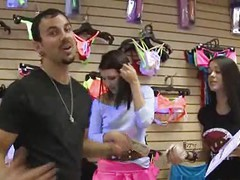 Brunette sucks & fucks for money in a store