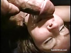 Random amateur wives getting facials