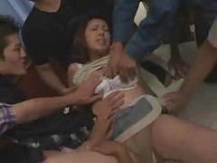 Japanese wife gangbanged by a