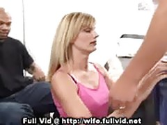 Housewife Sucking Shaft