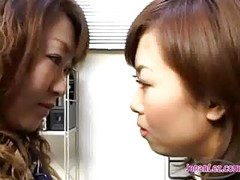 2 Office Ladies Kissing