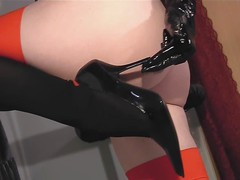 Black high heel insertion