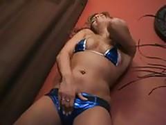 Shiny taylor blue bikini
