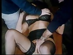 cute office babe forcely fucked by two guys