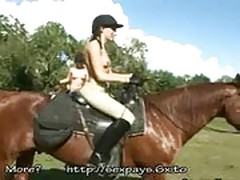 Chicks on horses seduced