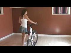 Upskirt and ass worship on bicycle – Mybestfetish<br>
