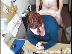 BBW Chubby Redhead Fucked On Webcam!<br>