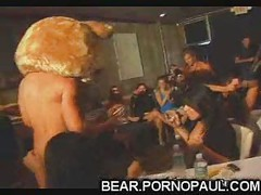 Male strippers get blown at girls party
