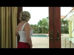 Blonde Mature in Red and