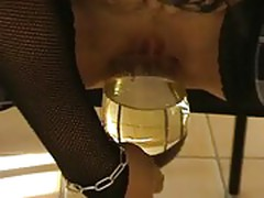 Piss drinking and cum eating