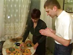 Russian mom banged by her sons friends<br>