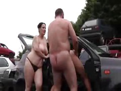 Horny German Sluts - Outdoor<br>