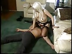 Dominated by a blonde mistress